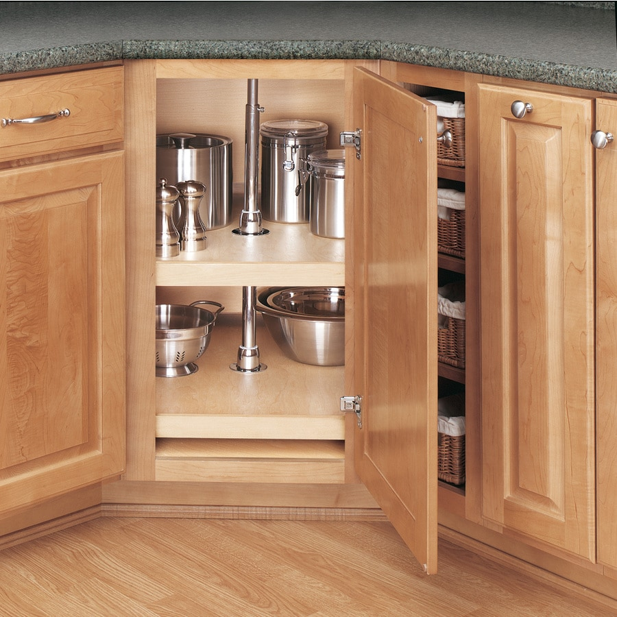 Rev A Shelf 2 Tier Wood D Shape Cabinet Lazy Susan At
