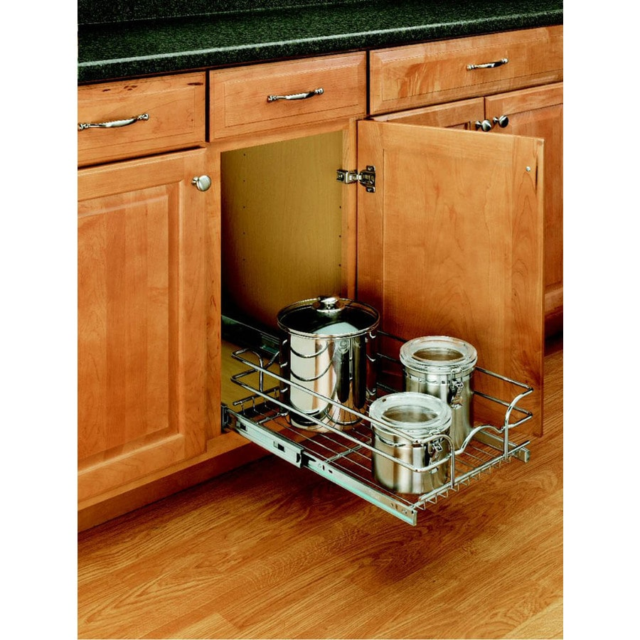 Rev-A-Shelf 11.38-in W x 6-in H Metal 1-Tier Pull Out Cabinet Basket