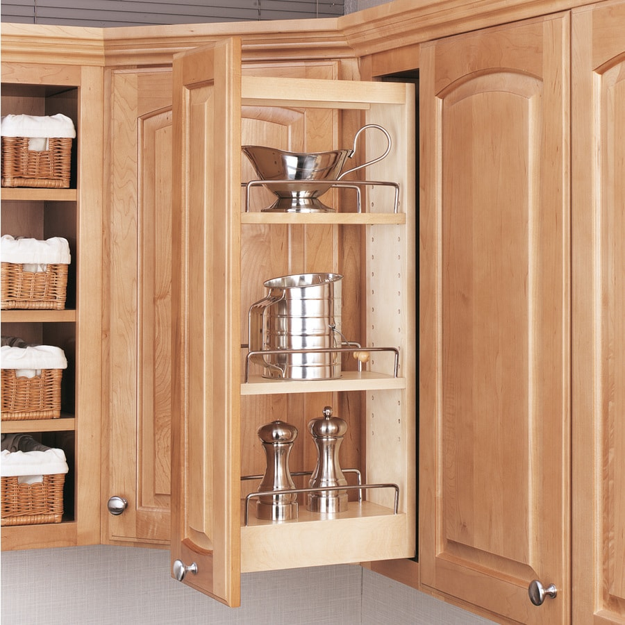 Slide Out Closet Shelves: Rev-A-Shelf 5-in W X 26.25-in 1-Tier Wood Cabinet Shelf At