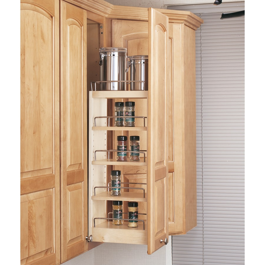 Slide Out Closet Shelves: Rev-A-Shelf 8-in W X 26.25-in 1-Tier Wood Cabinet Shelf At