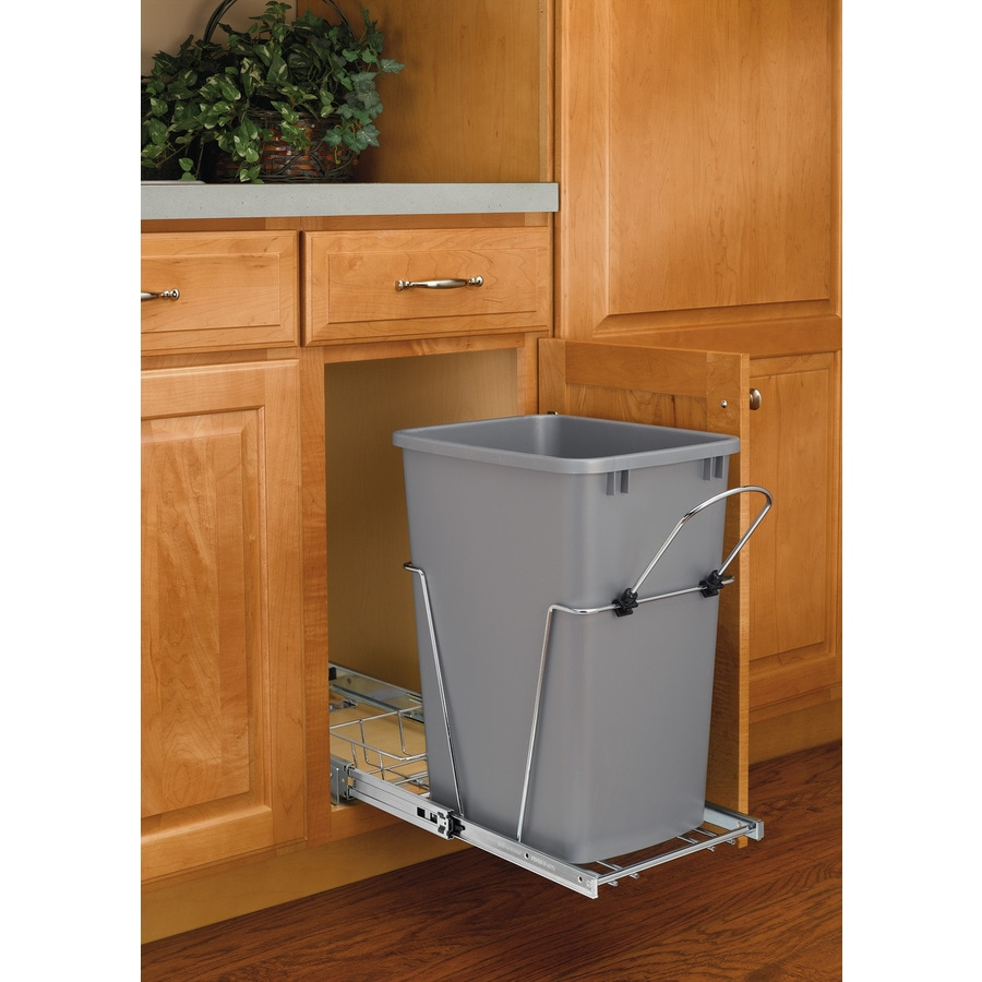 Kitchen Garbage Can Cabinet: Rev-A-Shelf 35-Quart Plastic Pull Out Trash Can At Lowes.com