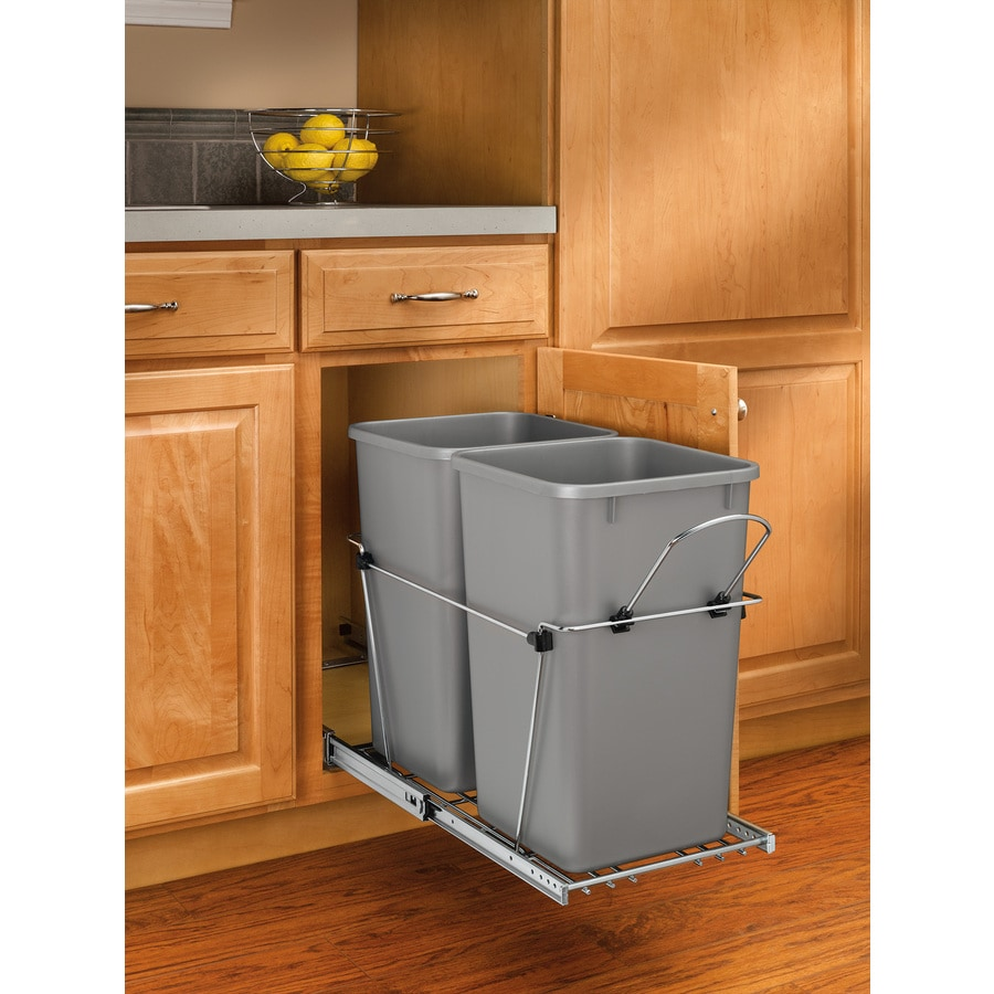 Pull Out Trash Can For Kitchen Cabinets Small
