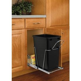 Attirant Rev A Shelf 35 Quart Plastic Pull Out Trash Can
