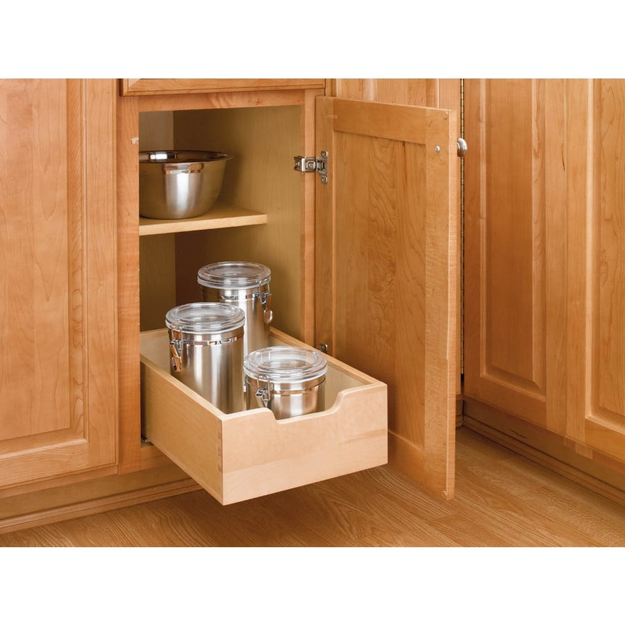 Rev-A-Shelf 11-in W X 5.62-in H Wood 1-Tier Pull Out Cabinet Basket At Lowes.com