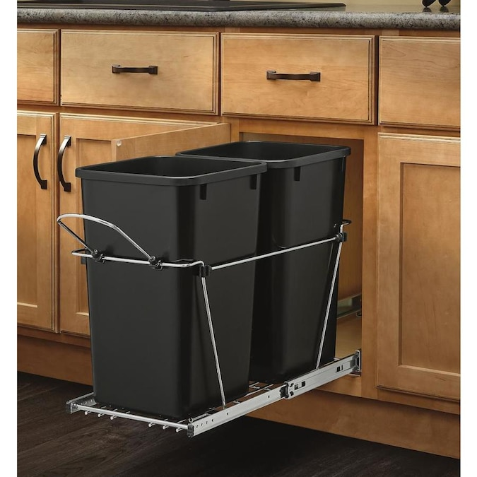 Rev A Shelf 27 Quart Plastic Pull Out Trash Can In The Pull Out Trash Cans Department At Lowes Com