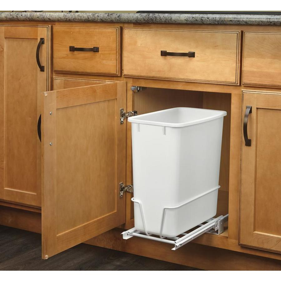 lovely Kitchen Garbage Cans Under Sink #2: Rev-A-Shelf 20-Quart Plastic Pull Out Trash Can