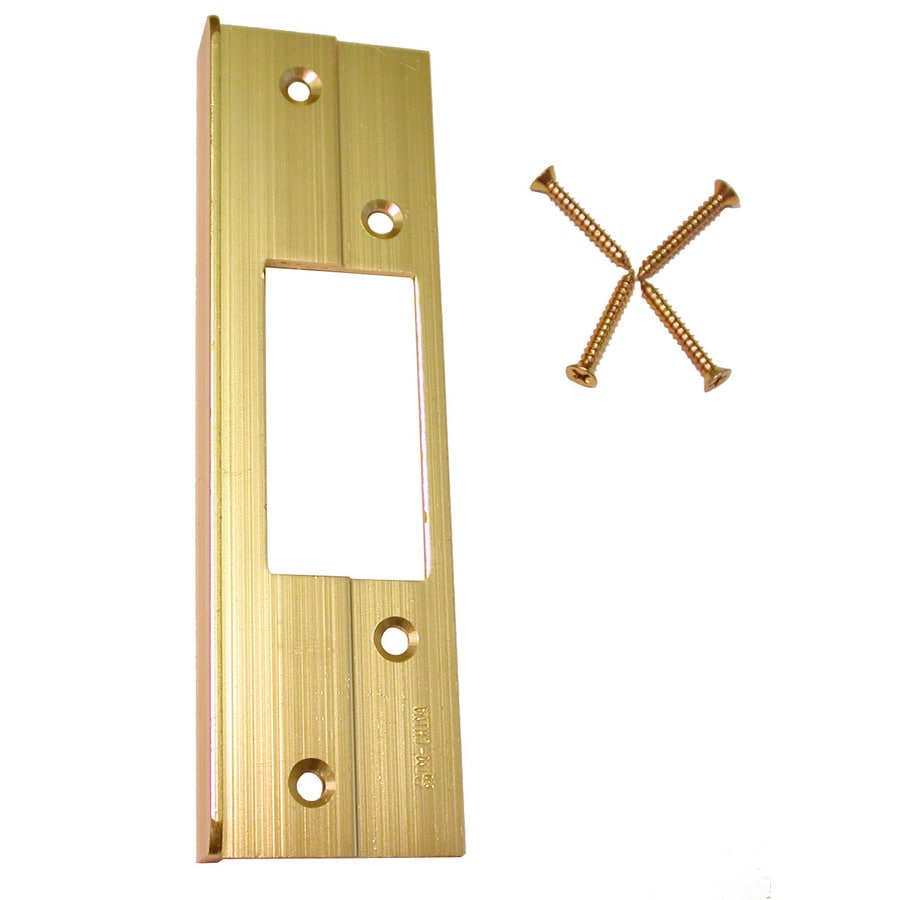 Barton Kramer 5.8-in x 7.8-in Polished Brass Entry Door Reinforcer