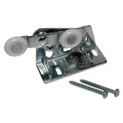 Pocket Door Rollers >> 2 Pack 0 875 In Convex Pocket Door Roller And Brackets