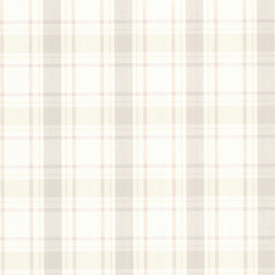 Brewster Wallcovering Kitchen and Bath Resource III Beige Non-Woven Plaid Wallpaper