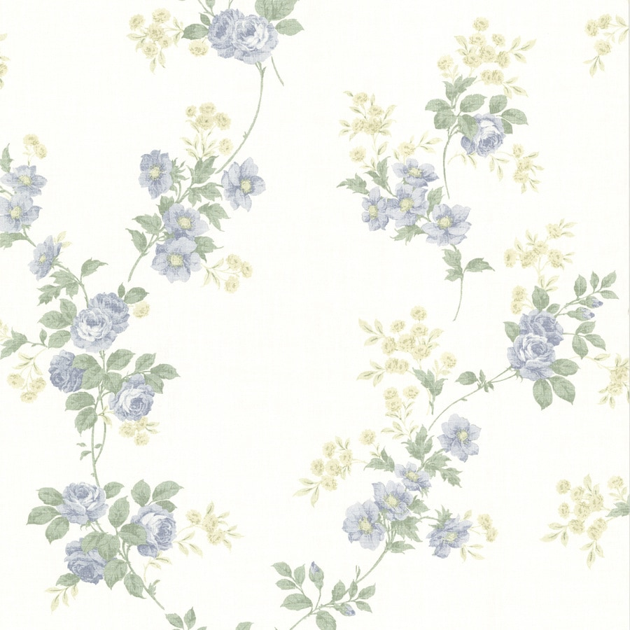 Brewster Wallcovering White Paper Floral Wallpaper