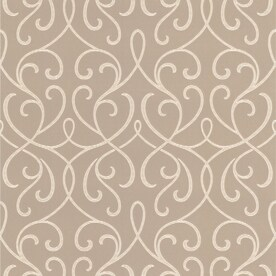 Brewster Wallcovering 33-sq ft Beige Non-Woven Damask Wallpaper