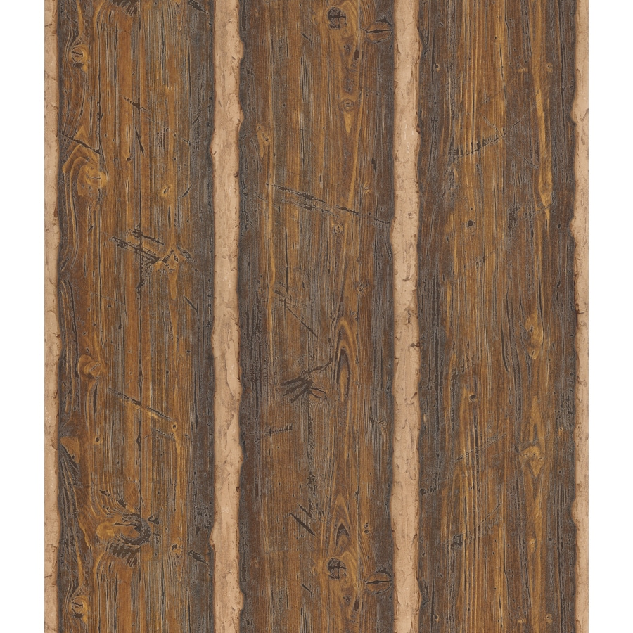 Shop brewster wallcovering faux wood wallpaper at - Faux wood plank wallpaper ...