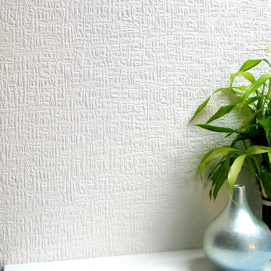Brewster Wallcovering Anaglypta Paintable Vinyl Textured Brushstroke 3-D Wallpaper