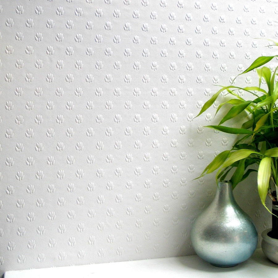 Brewster Wallcovering Anaglypta Paintable Vinyl Textured Floral 3-D Wallpaper