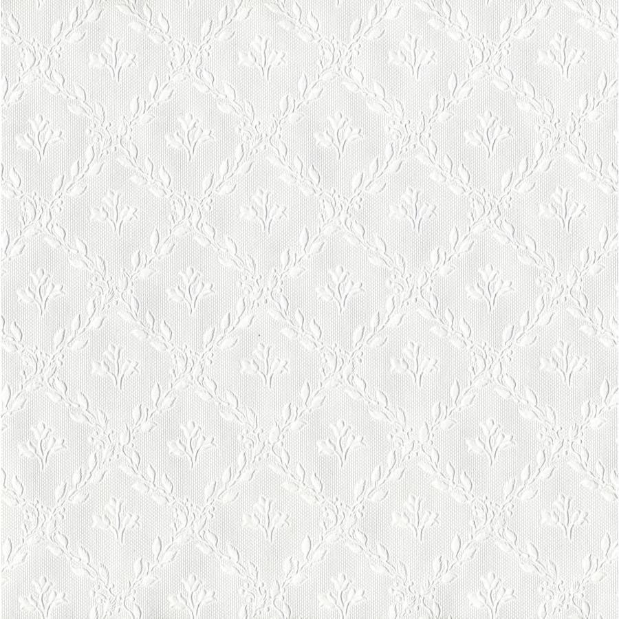 Brewster Wallcovering Anaglypta Paintable Vinyl Paintable Textured Geometric 3-D Wallpaper