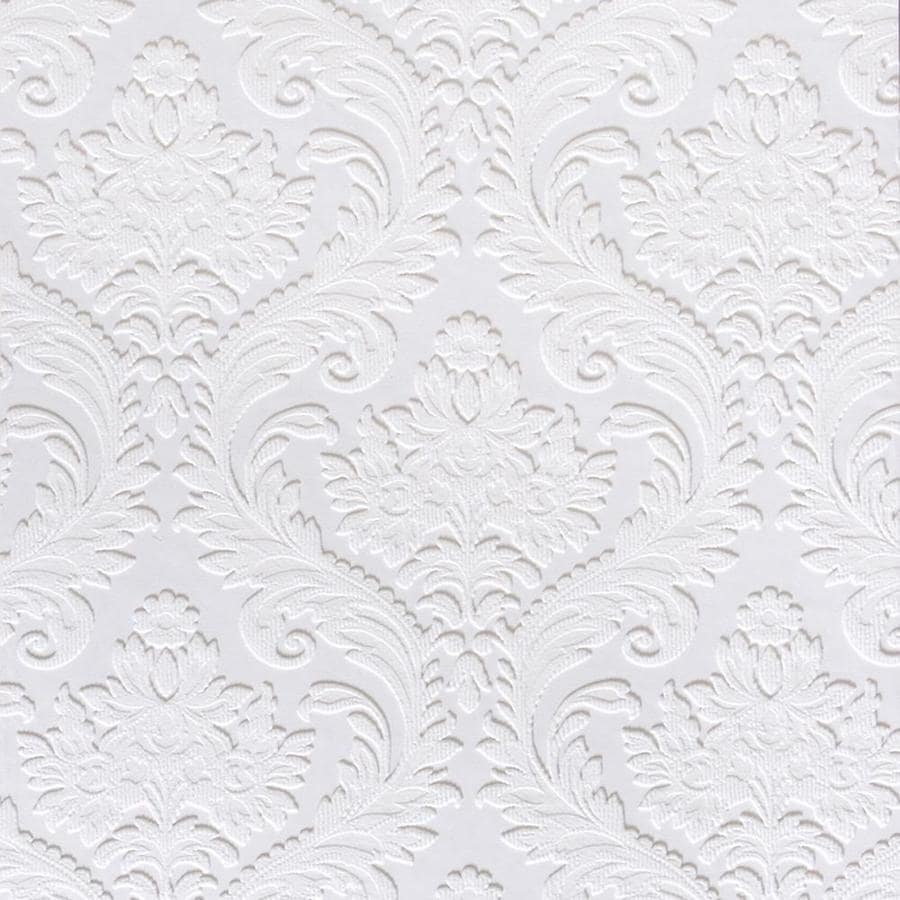 Brewster Wallcovering Anaglypta X Paintable Vinyl Paintable Damask Wallpaper