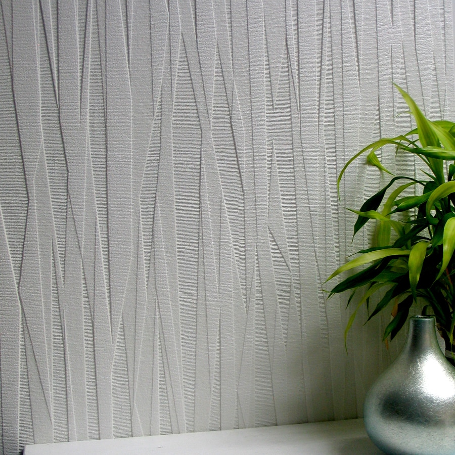 Shop brewster wallcovering anaglypta paintable vinyl Plain white wallpaper for walls