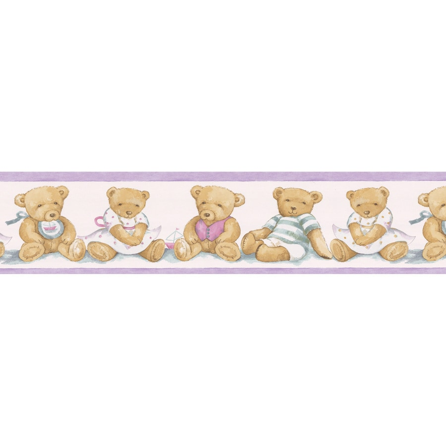 Shop brewster wallcovering 5 1 4 teddy bear prepasted for Wallpaper lowe s home improvement
