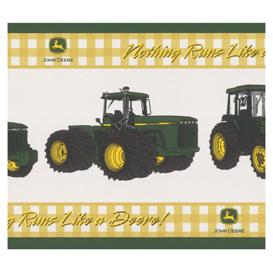 Shop brewster wallcovering john deere wallpaper border at for Kitchen cabinets lowes with john deere wall art