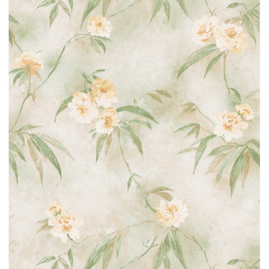 shop brewster wallcovering tropical floral print wallpaper at lowes com