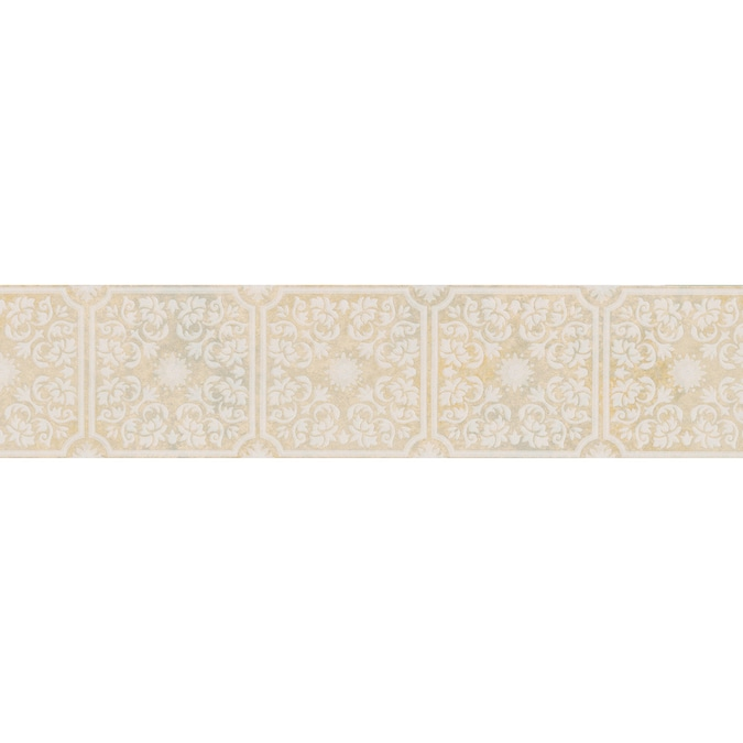 Brewster Wallcovering 5 1 8 Floral Tile Prepasted Wallpaper Border In The Wallpaper Borders Department At Lowes Com