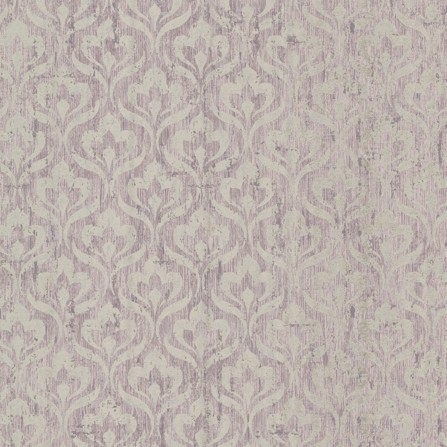 Brewster Wallcovering Light Purple Paper Geometric Wallpaper