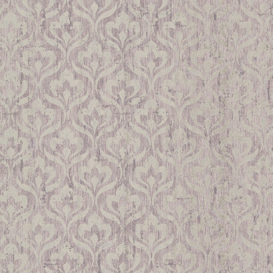 Brewster Wallcovering Light Purple Non-Woven Geometric Wallpaper