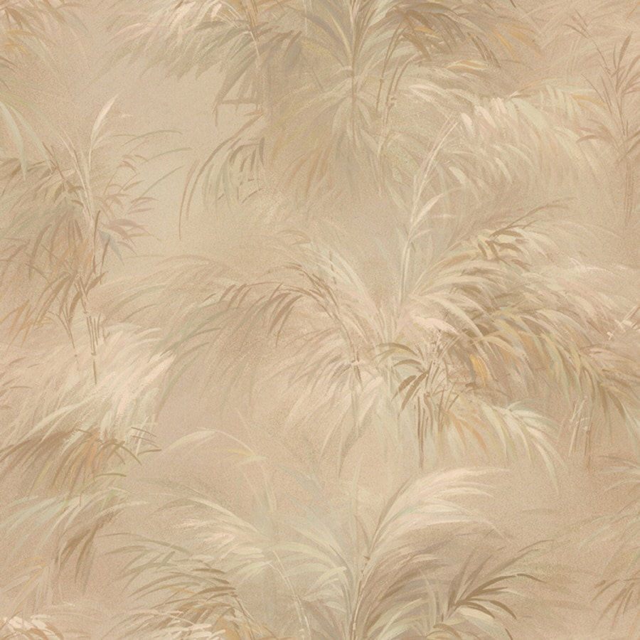 Shop Brewster Wallcovering Fern Pattern On A Beige