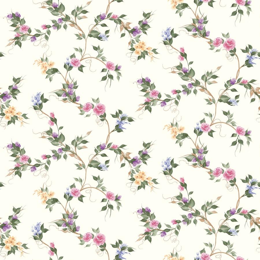 Brewster Wallcovering Multi-Flower Vine Leaves Wallpaper