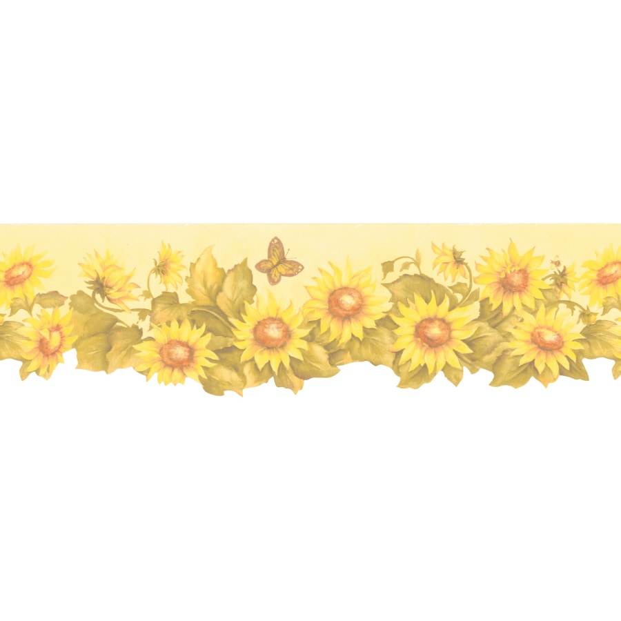 Brewster Wallcovering 6 3 4 Sunflower Prepasted Wallpaper Border