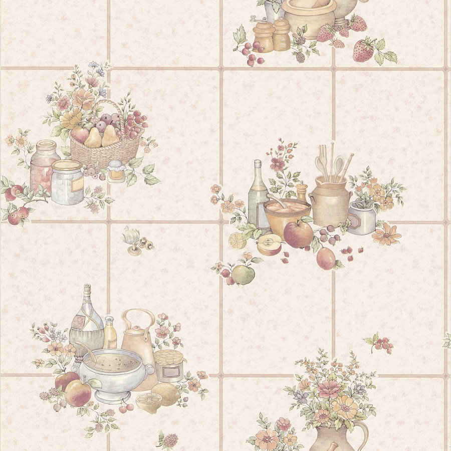 Brewster Wallcovering Kitchen and Bath Resource III Beige Vinyl Tile Wallpaper