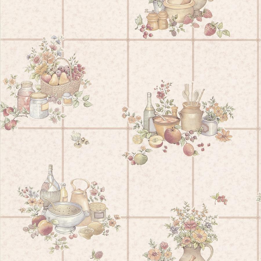 Brewster Wallcovering Kitchen and Bath Resource III 56-sq ft Beige Vinyl Tile  Wallpaper
