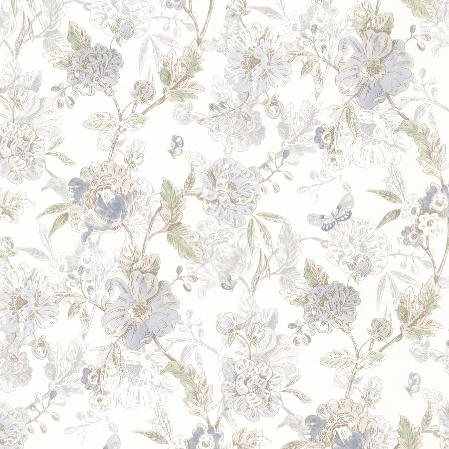 Brewster Wallcovering Kitchen and Bath Resource III 56-sq ft White Vinyl Floral  Wallpaper