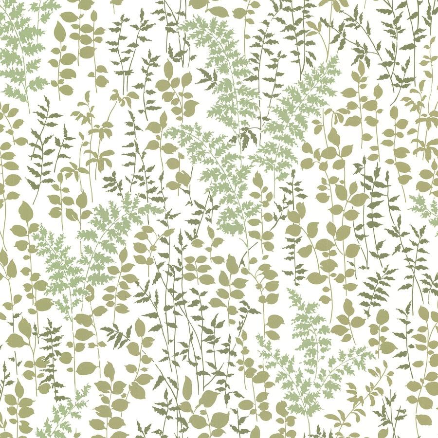 Brewster Wallcovering Green Vinyl Floral Wallpaper