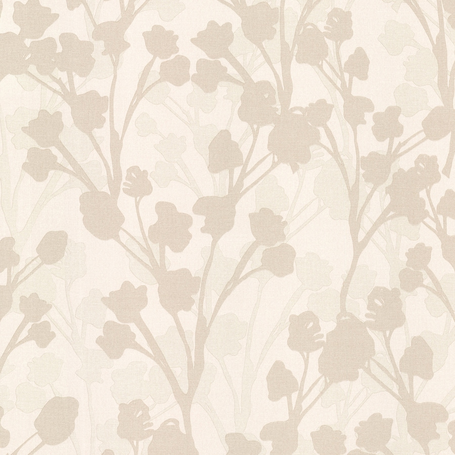 Brewster Wallcovering Kitchen and Bath Resource III Beige Vinyl Floral Wallpaper
