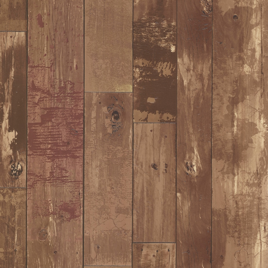 Brewster Wallcovering Kitchen and Bath Resource III Brown Vinyl Wood Wallpaper