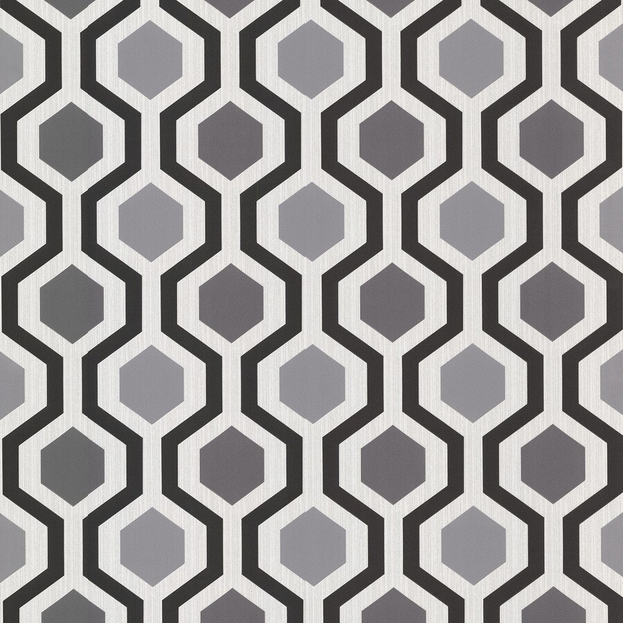 Brewster Wallcovering Kitchen and Bath Resource III Gray Vinyl Geometric Wallpaper