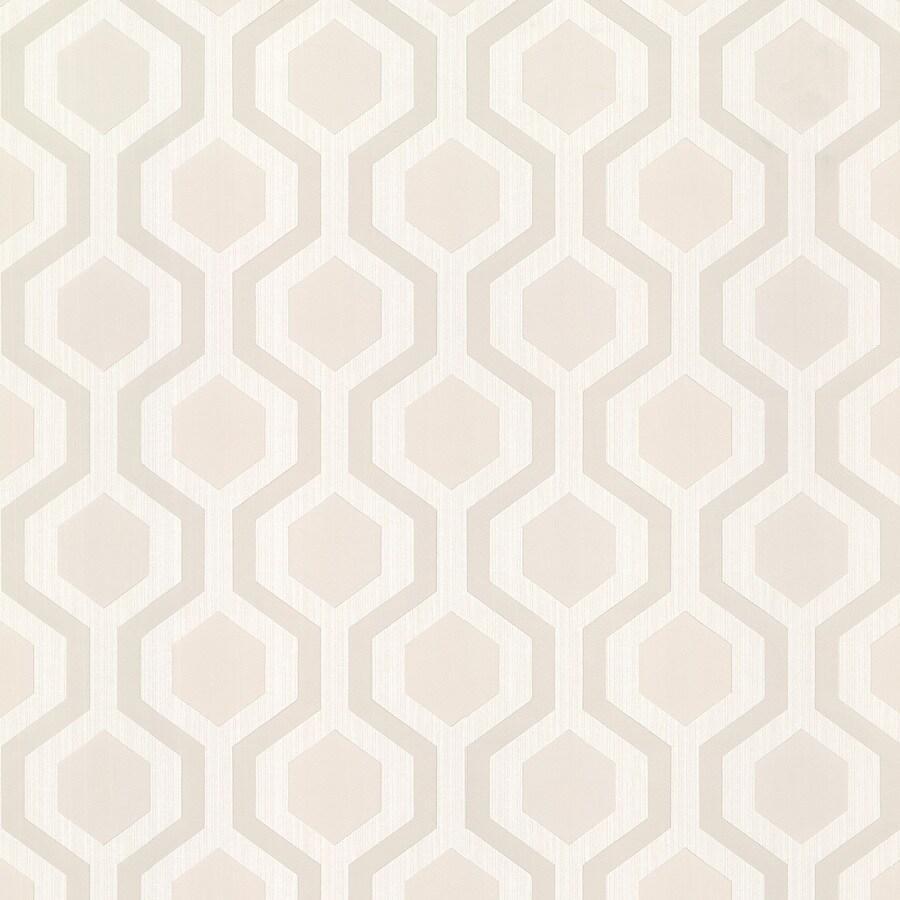Brewster Wallcovering Kitchen and Bath Resource III Beige Vinyl Geometric Wallpaper