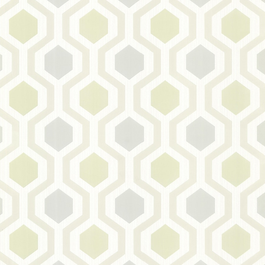 Brewster Wallcovering Kitchen and Bath Resource III Cream Vinyl Geometric Wallpaper
