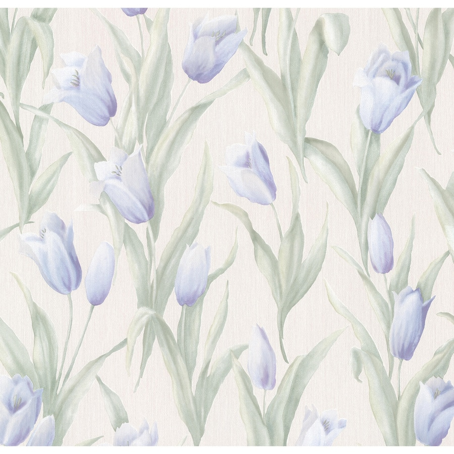 Brewster Wallcovering Cream Vinyl Floral Wallpaper