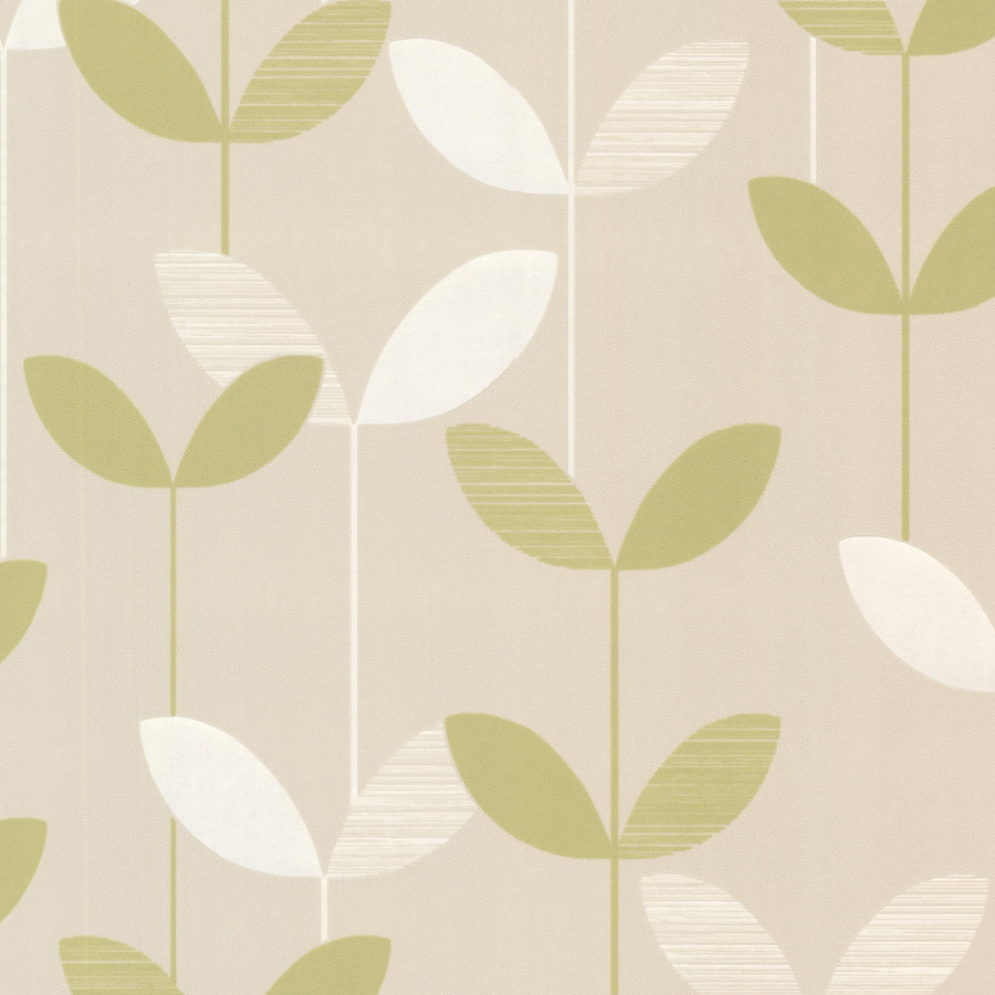 Brewster Wallcovering Elements Light Green/Cream Non-Woven Ivy/Vines Wallpaper