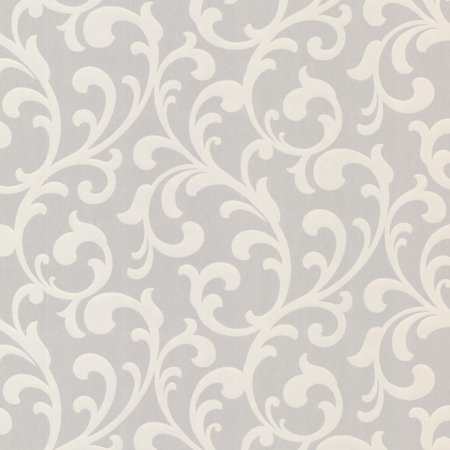 Brewster Wallcovering Elements 56-sq ft Silver Non-Woven Ivy/Vines  Wallpaper