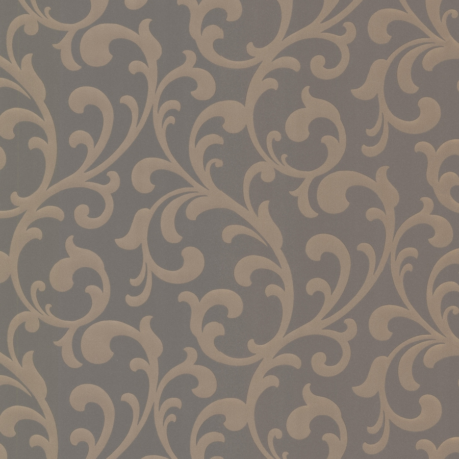 Brewster Wallcovering Elements Brown Non-Woven Ivy/Vines Wallpaper