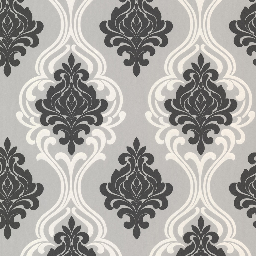 black damask wallpaper on - photo #36