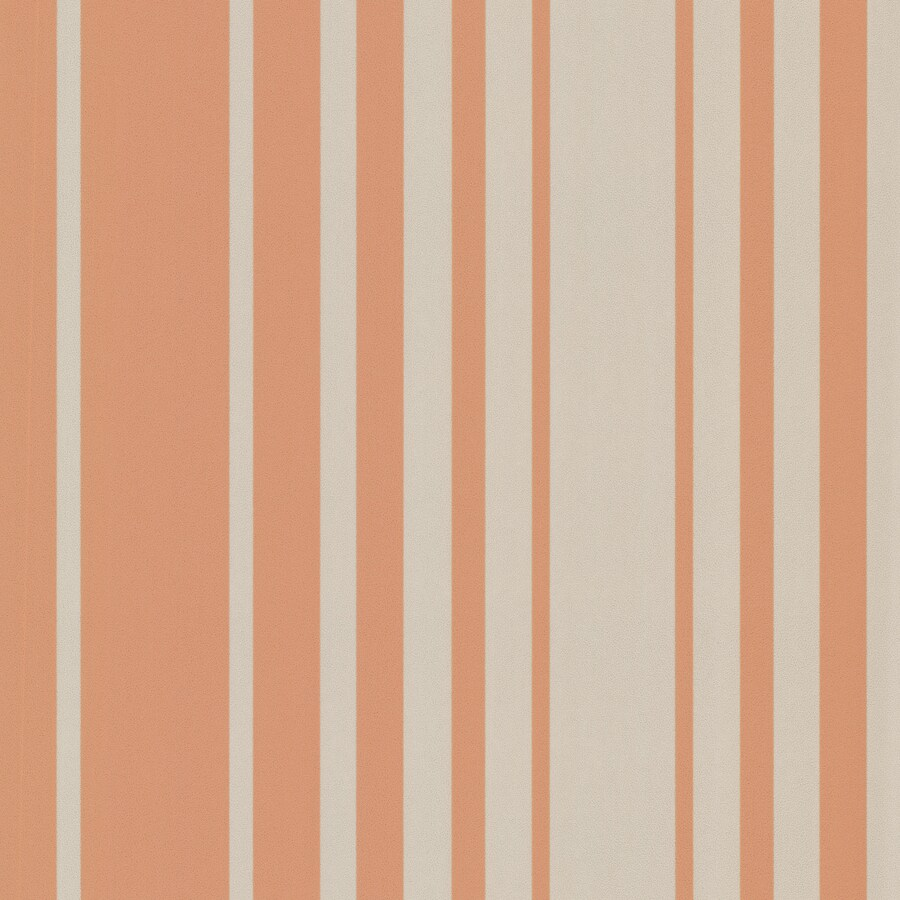 Brewster Wallcovering Elements Orange Non-Woven Stripes Wallpaper