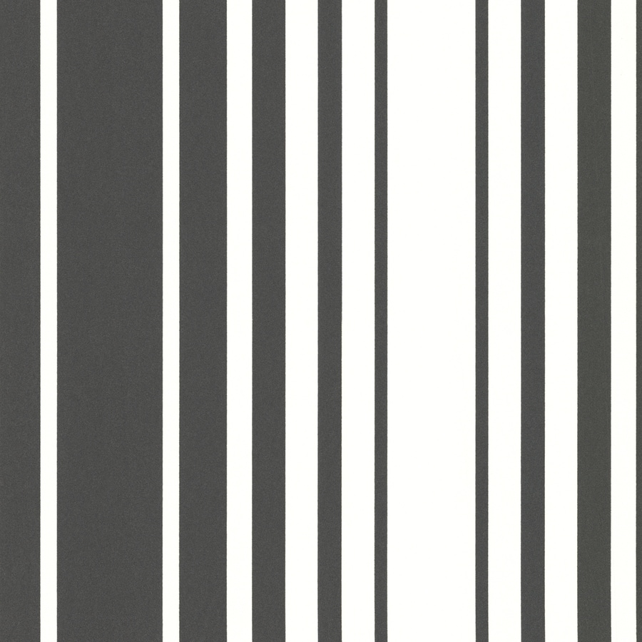 Brewster Wallcovering Elements Black Non-Woven Stripes Wallpaper