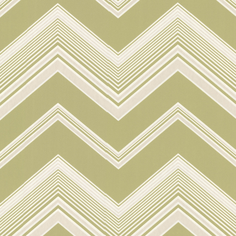 Brewster Wallcovering Elements Light Green Non-Woven Geometric Wallpaper