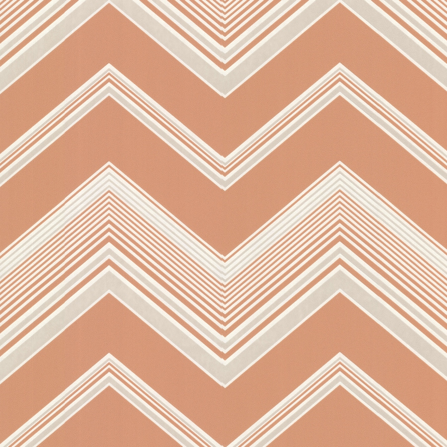 Brewster Wallcovering Orange Paper Geometric Wallpaper