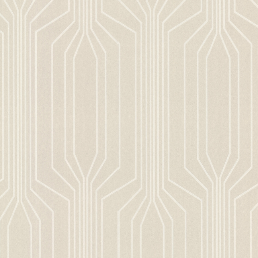 Brewster Wallcovering Elements Beige Non-Woven Geometric Wallpaper