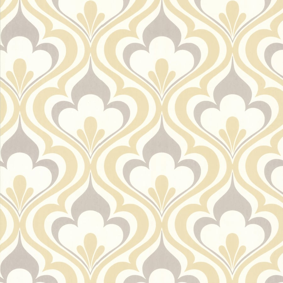 brewster simple space 2 yellow nonwoven damask wallpaper